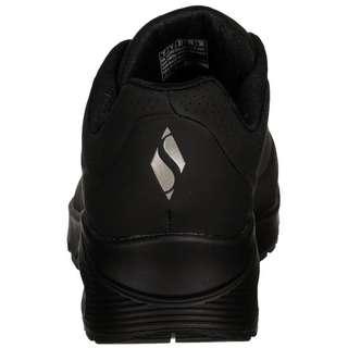 Skechers Durabuck Lace Up Sneaker Damen schwarz