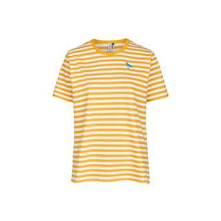 Cleptomanicx Gull Stripe 2 T-Shirt Herren Apricot