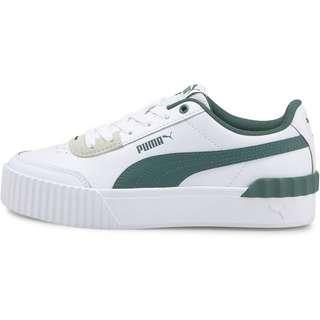 PUMA Carina Lift Sneaker Damen puma white-blue spruce