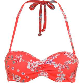 sunseeker Bikini Oberteil Damen blumendruck orange
