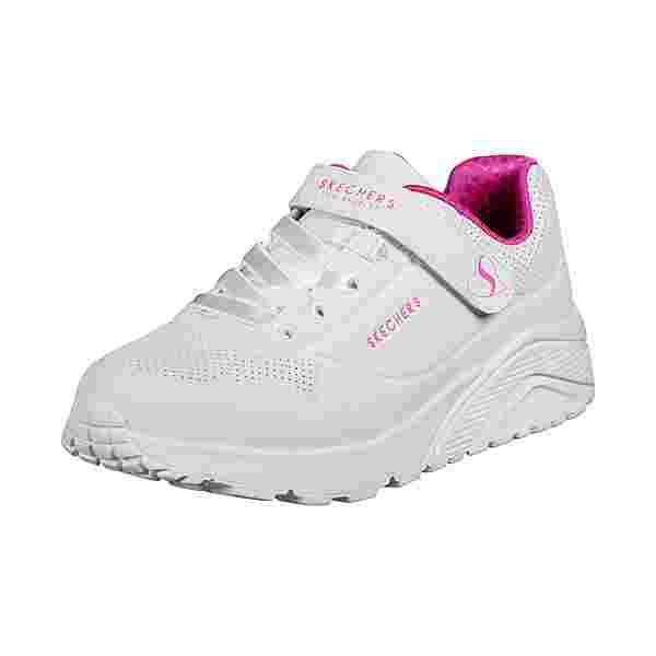 Skechers Uno Lite Sneaker Kinder weiß / pink
