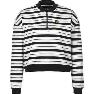 Lyle & Scott Stripe Bomber Sweatshirt Damen schwarz/weiß/gestreift