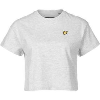 Lyle & Scott Cropped T-Shirt Damen grau/meliert