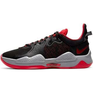 Nike PG V Basketballschuhe Herren black-university red-white