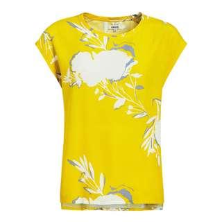 Khujo ANFISIA Kurzarmbluse Damen gelb gemustert