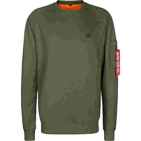 Alpha Industries X-Fit Basic Sweatshirt Herren weiß