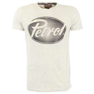 Petrol Industries T-Shirt Herren Antique White Melee