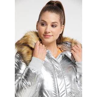 MYMO Winterjacke Damen Silber