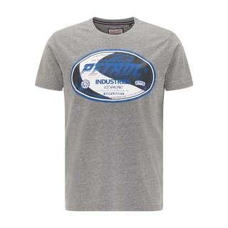 Petrol Industries Printshirt Herren Light Slate Melee