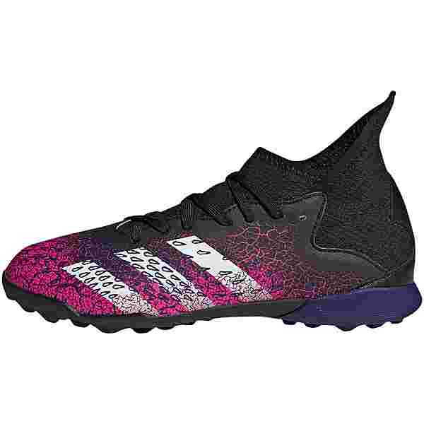 adidas PREDATOR FREAK .3 TF J Fußballschuhe Kinder core black-ftwr white-shock pink