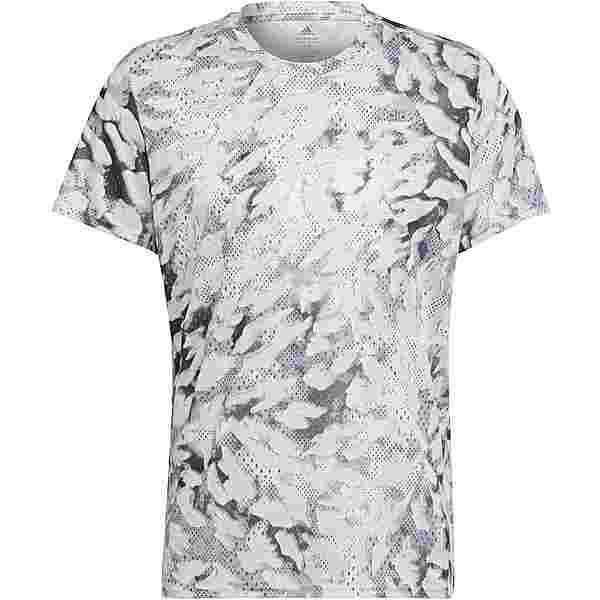 adidas fast aop Funktionsshirt Herren grey one-white