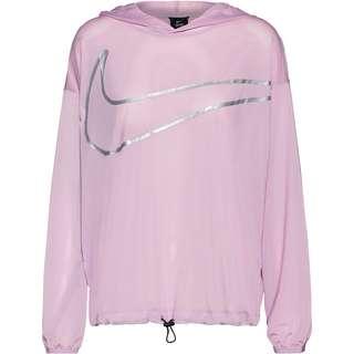 Nike Pro Funktionsshirt Damen iced lilac-metallic silver