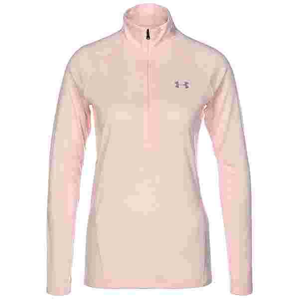 Under Armour Tech Twist 1/2 Zip Langarmshirt Damen pink