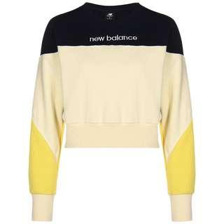 NEW BALANCE Athletics Fleece Crew Sweatshirt Damen gelb / schwarz