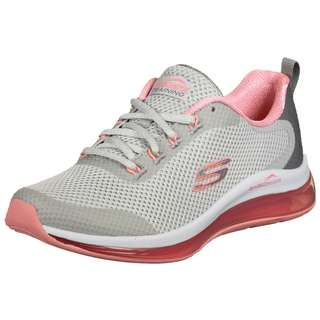 Skechers Mesh Lace Up Sneaker Damen grau / pink
