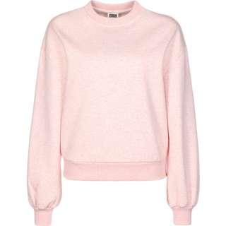 Urban Classics Oversized Color Melange Crewneck Sweatshirt Damen pink/meliert