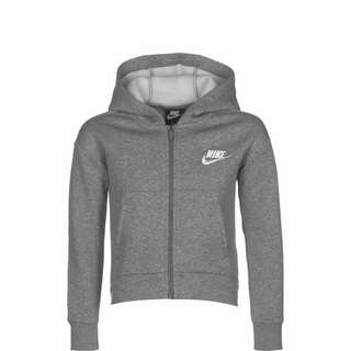 Nike Club Fleece Sweatjacke Kinder grau / weiß