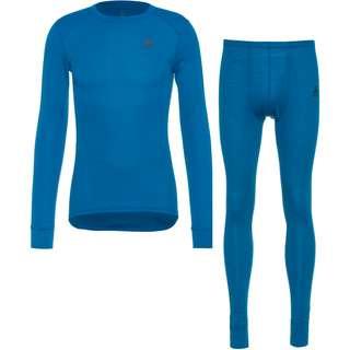 Odlo ACTIVE WARM ECO Wäscheset Herren mykonos blue