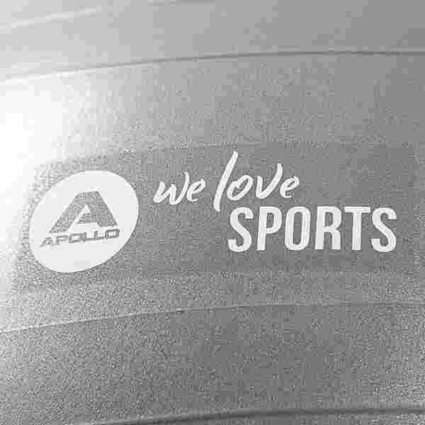 Apollo ø 65 cm Anti Burst Fitnessball Gymnastikball grau