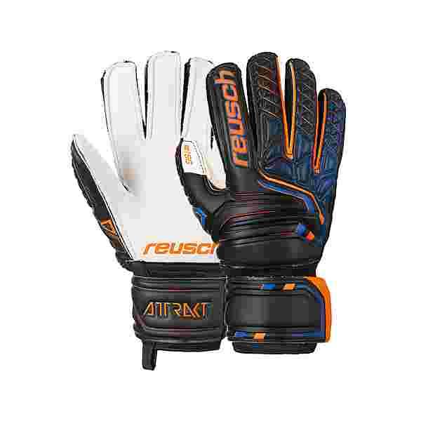 Reusch Attrakt SG Finger Support Junior Torwarthandschuhe black/shocking orange