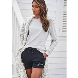 Bench Sweatshirt Damen hellgrau-meliert
