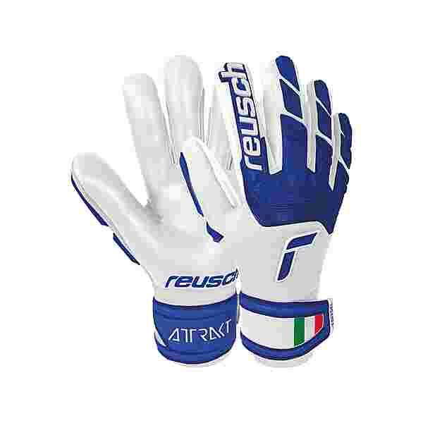 Reusch Attrakt Freegel Silver Junior Torwarthandschuhe white / deep blue