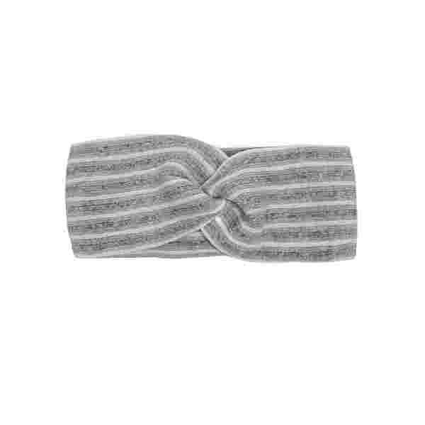 Zwillingsherz Stirnband Daniela Wolle Stirnband Damen grau / weiß