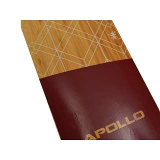 Apollo Bali Bamboo Longboard holz/rot