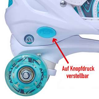 Apollo Super Quads X-Pro Rollschuhe weiß/mint