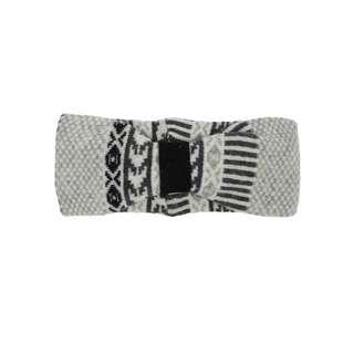 Zwillingsherz Stirnband Ramona mit Wolle Stirnband Damen grau / schwarz