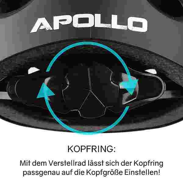 Apollo Skatehelm Skate Helm schwarz