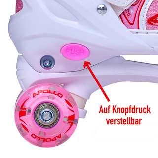 Apollo Super Quads X-Pro Rollschuhe weiß/pink