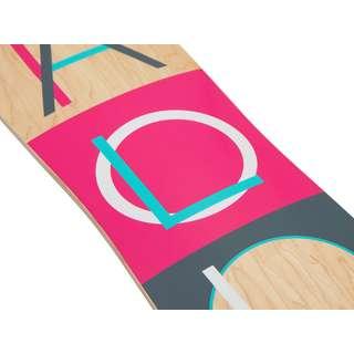 Apollo Fidji Longboard holz/pink/schwarz