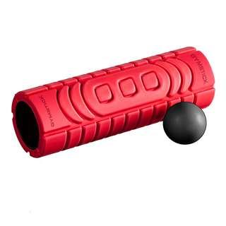 Gymstick Faszienset Rolle und Ball Faszien Set schwarz, rot