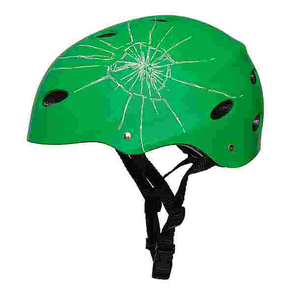 Apollo Skatehelm mit Design Skate Helm Broken Green