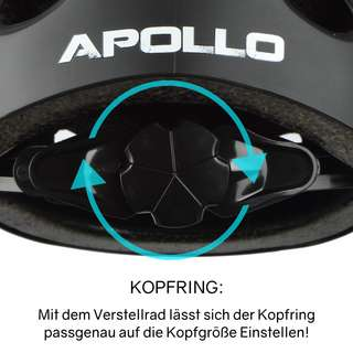 Apollo Skatehelm mit Design Skate Helm Broken Black