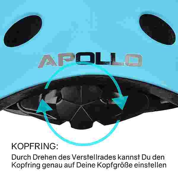 Apollo Skatehelm Skate Helm hellblau