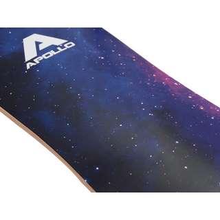 Apollo Nebula UV Wheels Longboard lila/schwarz/blau
