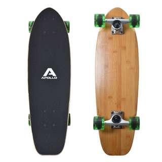 "Apollo Classic Green 27"" Longboard grün/holz"