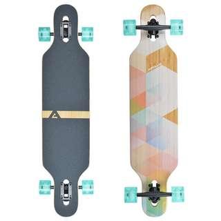 Apollo Nauro Bamboo Longboard holz/pastell