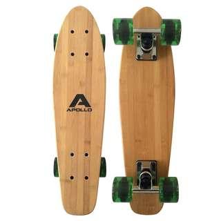 "Apollo Classic Green 22"" Longboard grün/holz"
