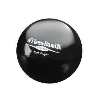 TheraBand Gewichtsball Fitnessgerät schwarz