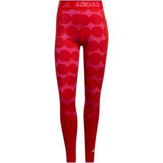 adidas MARIMEKKO TECH-FIT Tights Damen vivid red