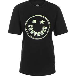 CONVERSE Happy Camper T-Shirt Damen schwarz
