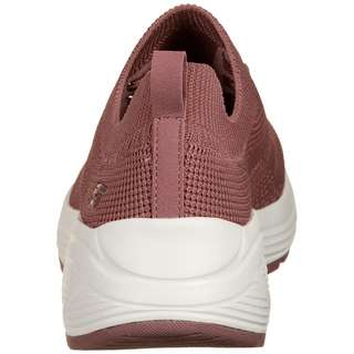Skechers Engineered Knit Sock Fit Slip Sneaker Damen rosa / beige