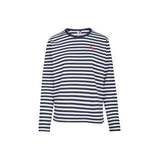 Cleptomanicx Gull Stripe 2 Langarmshirt Damen Dark Navy