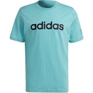 adidas Linear T-Shirt Herren mint ton-black
