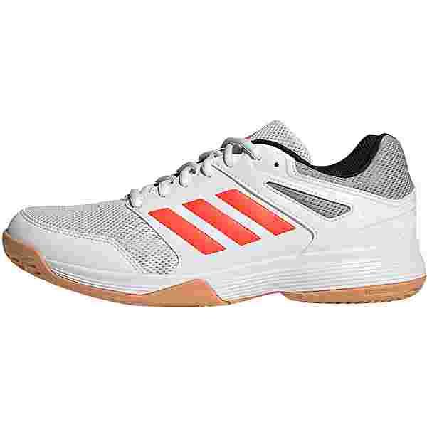 adidas Speedcourt Hallenschuhe Herren ftwr white-core black-solar red
