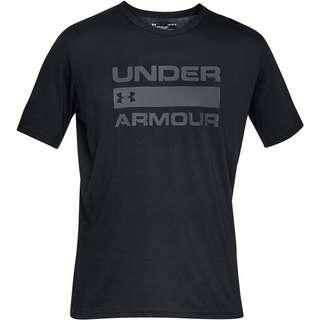 Under Armour Wordmark T-Shirt Herren black -rhino gray