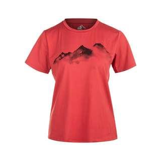 Whistler ELISE W o-neck Printed Printshirt Damen 4123 Cardinal
